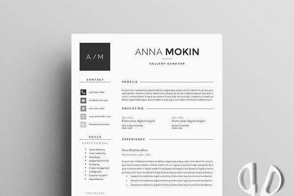 Resume Template 5 page pack | Smoke
