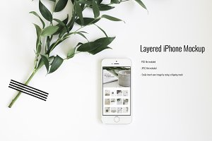 SALE!!! Layered iPhone Mockup