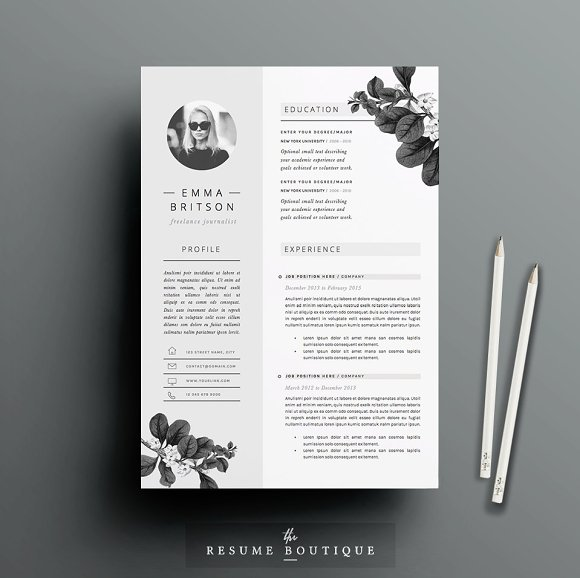 Resume Template 5 page pack | Petal ~ Resume Templates ~ Creative Market
