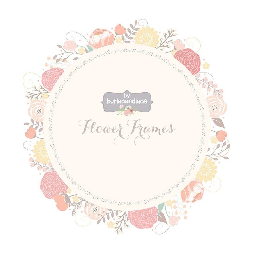 Flower Frames Illustrations Creative Market