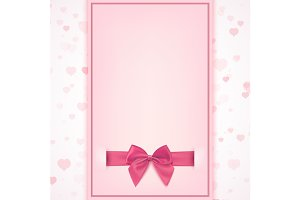 Greeting card template for a girl.