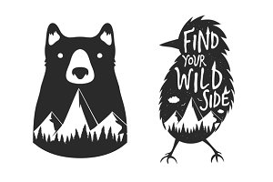 Bird and Bear Wild side set