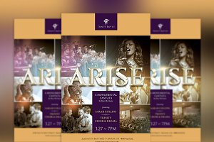 Arise Cantata Flyer Poster