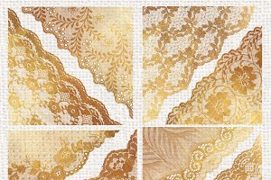Gold Lace Corner Overlays