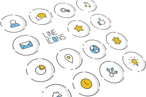 Thin Line Icon Collection
