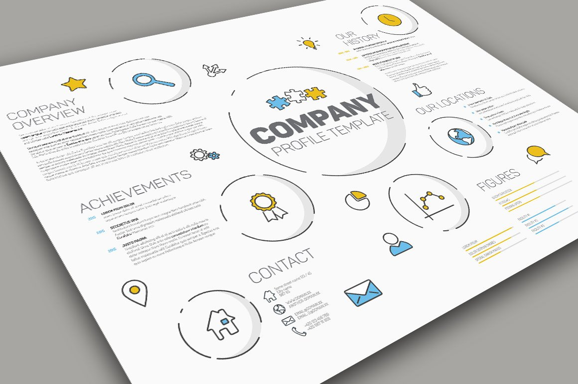 Modern company profile template presentation templates creative modern company profile template presentation templates creative market cheaphphosting Images
