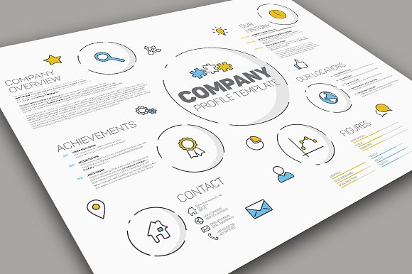 Modern Company Profile Template Presentation Templates on – Templates for Company Profile