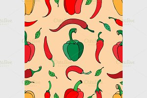 pattern with pepper background