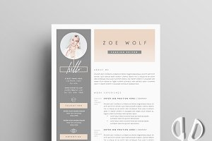 resume template 5pages dolce vita. Resume Example. Resume CV Cover Letter