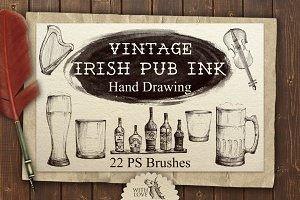 Irish Pub Ink Vintage PS Brushes