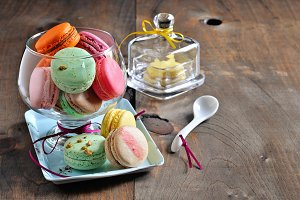 Macarons, French dessert