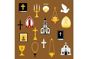 Religious flat icons