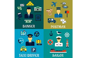 Banker, driver, postman and sailor