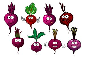 Purple beet vegetables