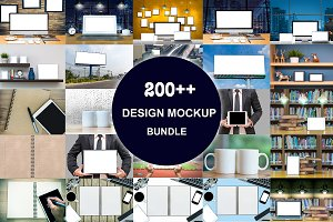 200++ DESIGN MOCKUP Bundle