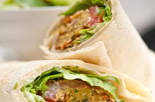 falafel pita bread roll wrap