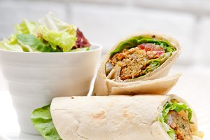 falafel pita bread roll wrap