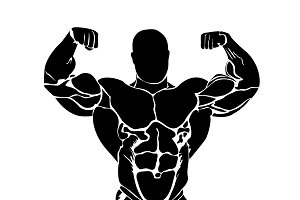 bodybuilding, powerlifting, icon