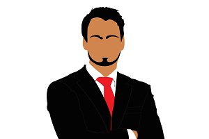 businessman, vector, avatar