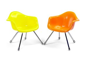 plastic chairs isolated