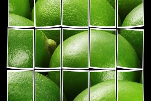 green fresh lime