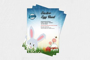 Easter Egg Hunt Party Flyer-V220