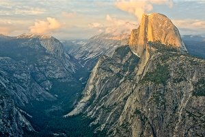 Overlook Wows, Half-Dome Yosemite