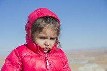 Angry three years girl
