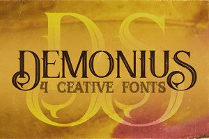 Demonius - 4 Vintage Fonts