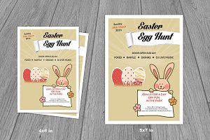 Easter Egg Hunt Flyer Template-V221