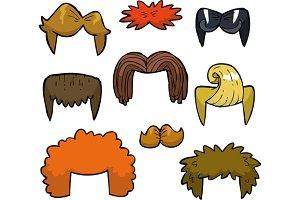 Wigs set doodle