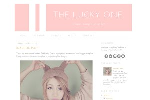 Blogger Template - The Lucky One