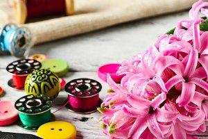 Hyacinth thread decoration