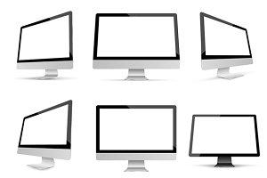 Monitor Mockup Vetor set