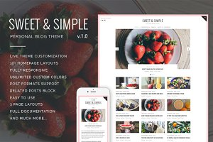 50% OFF! - Sweet&Simple - WP Theme
