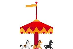 Kids carnival carousel