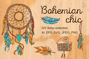 Bohemian chic DIY collection