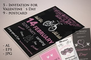 Invitations for Valentine`s Day