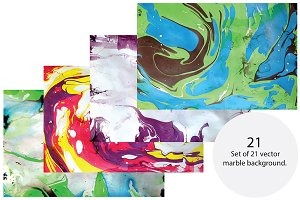 Marble backgrounds, vector