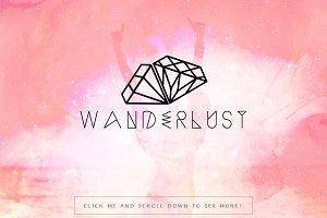 Wanderlust Premade Logo