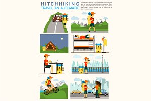 Infographic of hitchhiking tourism