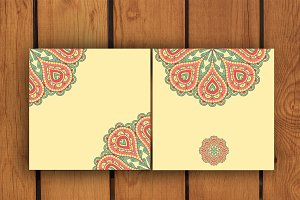 Ethnic ornament colorful templates.