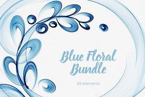 Blue Floral bundle