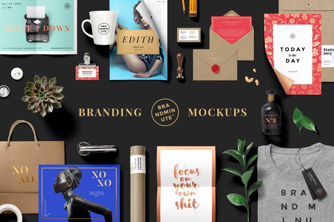 Brandminute Mockups Product Creative Market
