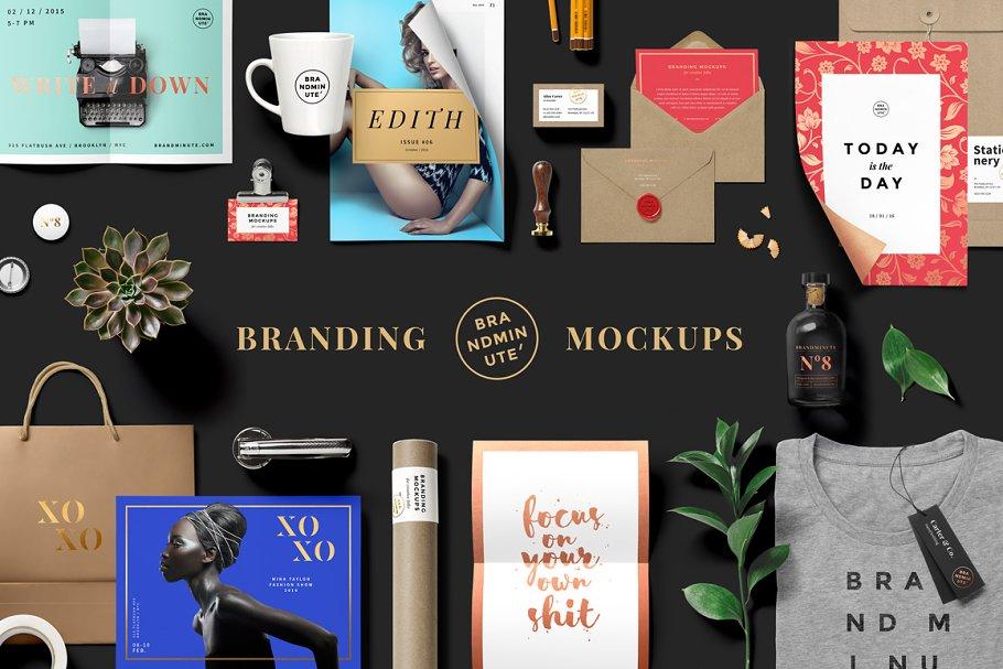 341fd0630853 Brandminute Mockups ~ Product Mockups ~ Creative Market