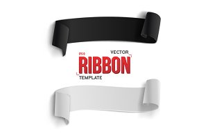 Blank Vector Ribbon Banner