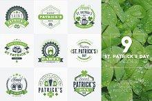 Set of St. Patrick's Badges