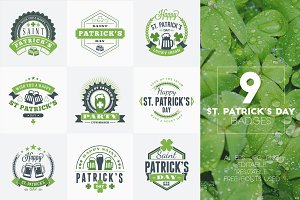 Set of St. Patrick's Badges