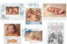 Soft Floral 5x7 WHCC Birth Cards