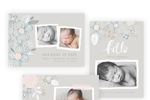 Pretty Floral Baby 5x7 WHCC Cards